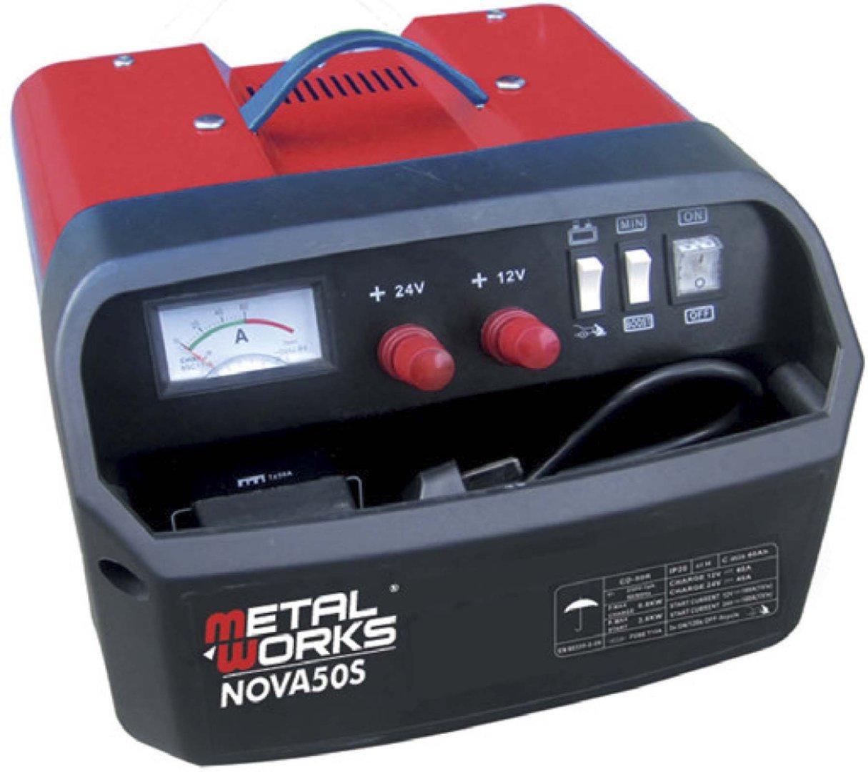 Cargador y arrancador de baterias 12 y 24 v metalworks nova 50s - Cargador de pilas precio ...