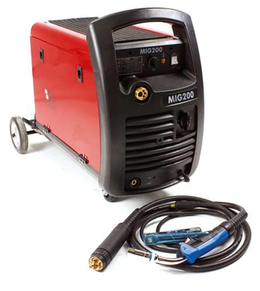 Wire Welder Metalworks MIG200 220 v 7.5 kw 200 Amp