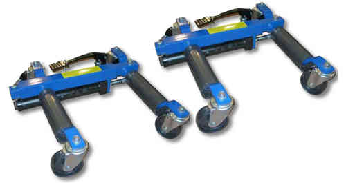 Hydraulic trolleys for transporting vehicles (set of 2 units)