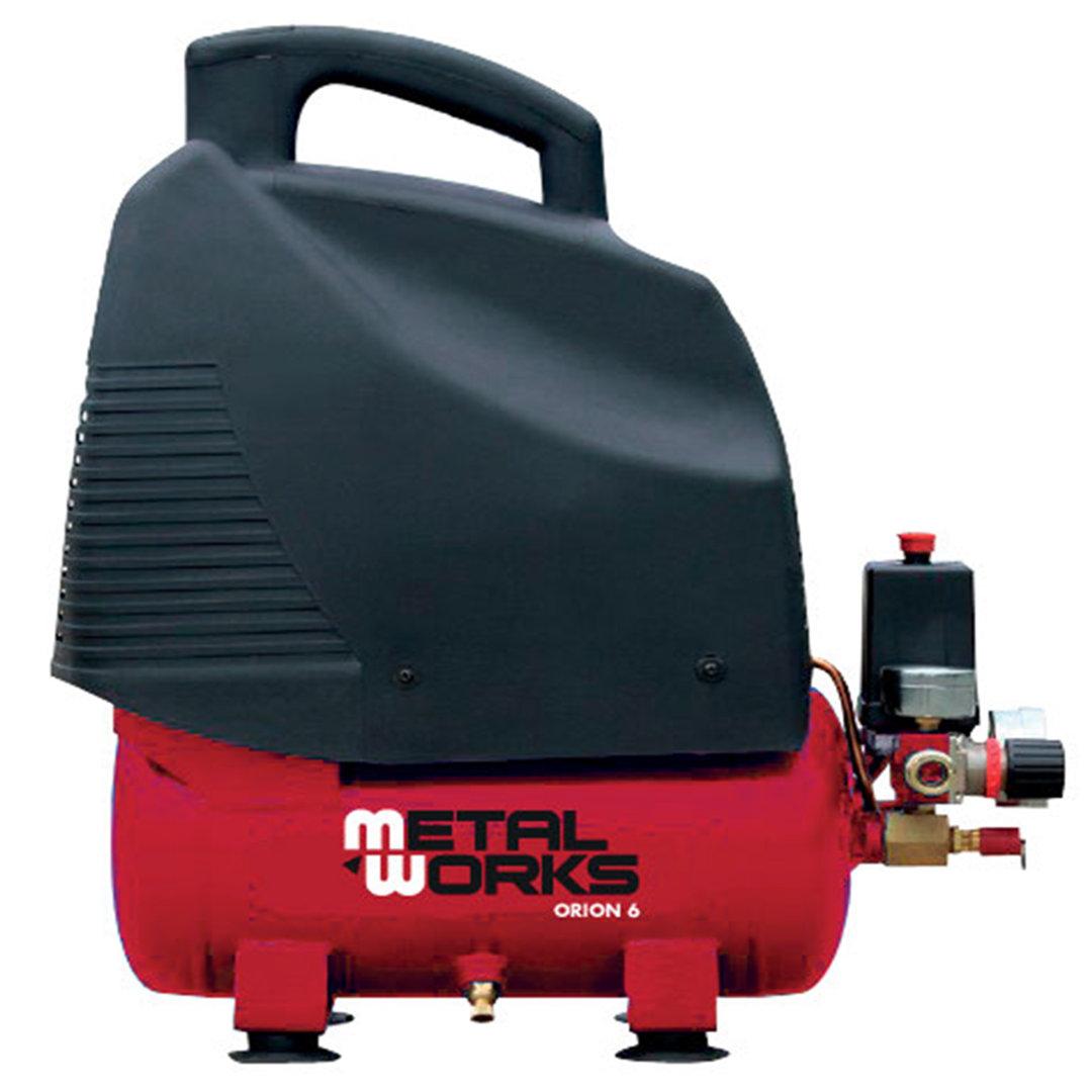 Compresor de aire 230v 1 5 cv 6 litros metalworks orion 6 - Compresor 6 litros ...
