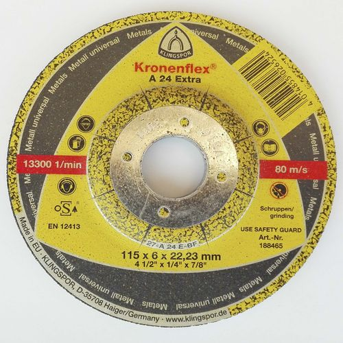 Grinding disc 115 x 6 mm. box 10 units