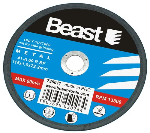 Metal / Steel / Iron Cutting Disc 115 x 1 mm. (Box of 50 Units)