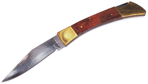 Knife with wooden handle and chrome 100 mm.