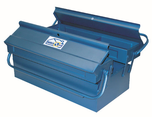 Metal toolbox 3 compartments 400x200x160mm.