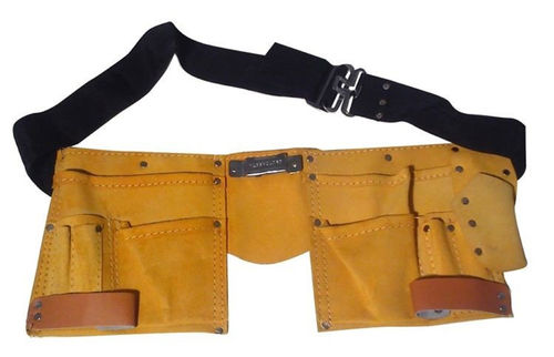 Leather Tool Belt with 11 Pockets