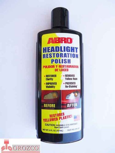 Car Headlamp Restoration Polish / Optics Abro 237 ml.