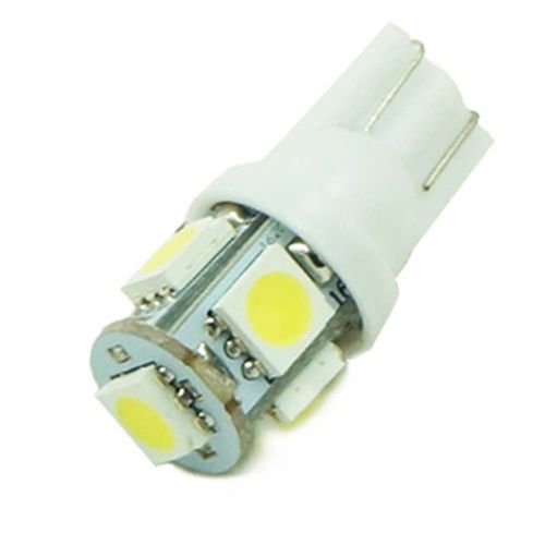 Led lamp 12v T10 W5W 5 SMD (Bag 10 Units)